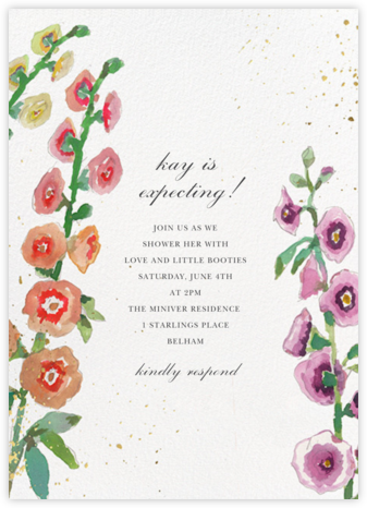 Delphinium - Happy Menocal - Baby Shower Invitations