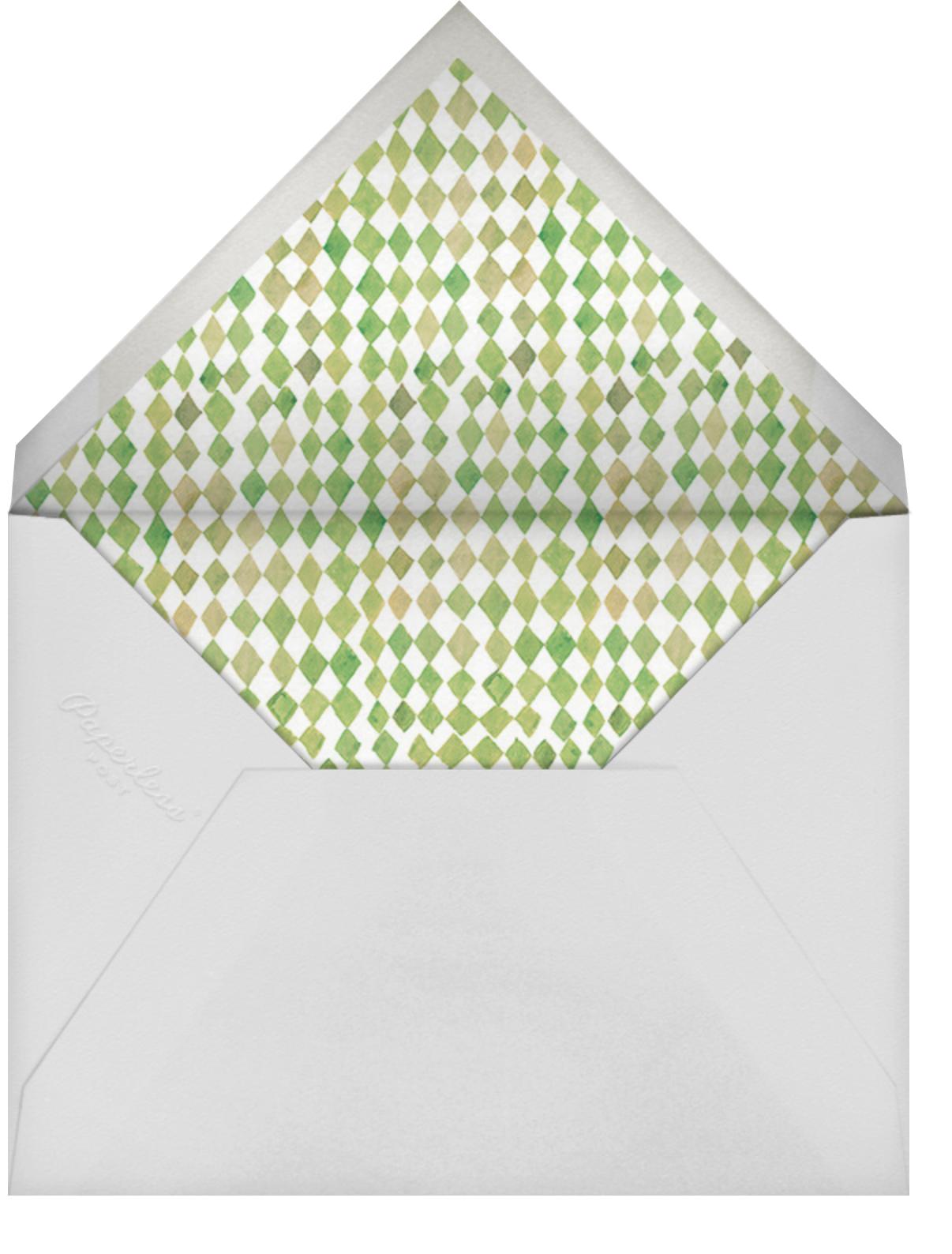 Tiger Leap - Happy Menocal - Kids' birthday - envelope back