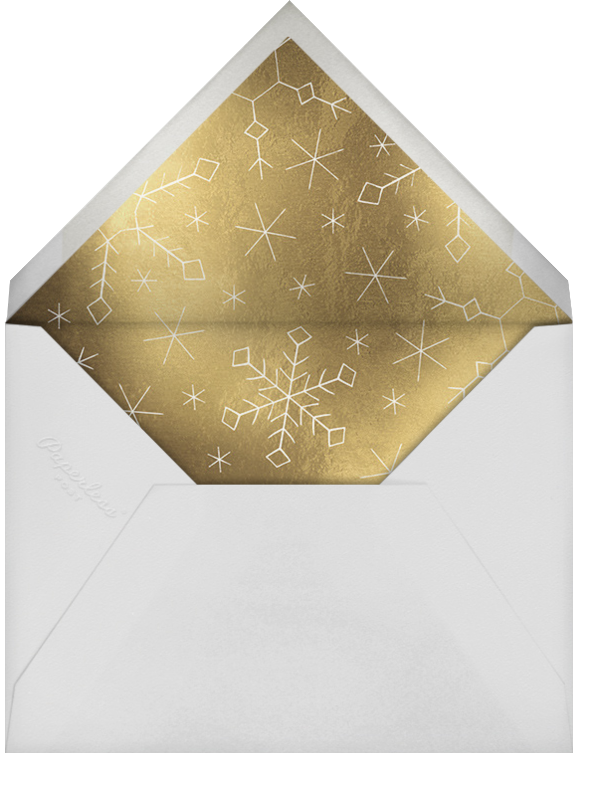 Gold Snowflakes - Paperless Post - Winter parties - envelope back