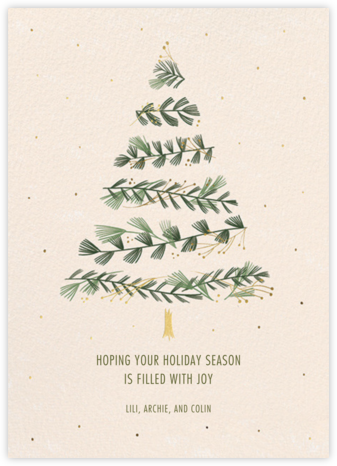 Gold Sprigs - Paperless Post - Christmas Cards