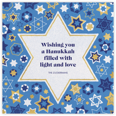 Six Points - Paperless Post - Hanukkah Cards