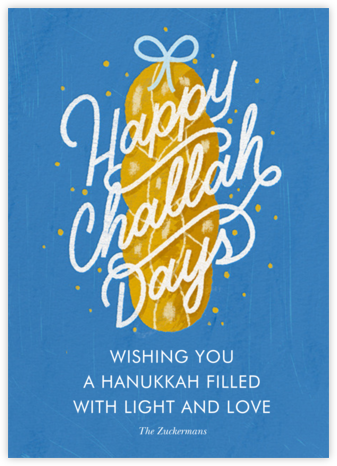 Challahdays - Lapis - Paperless Post - Hanukkah Cards