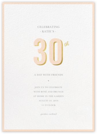 Pop of Gold - 30 - Sugar Paper - Adult Birthday Invitations