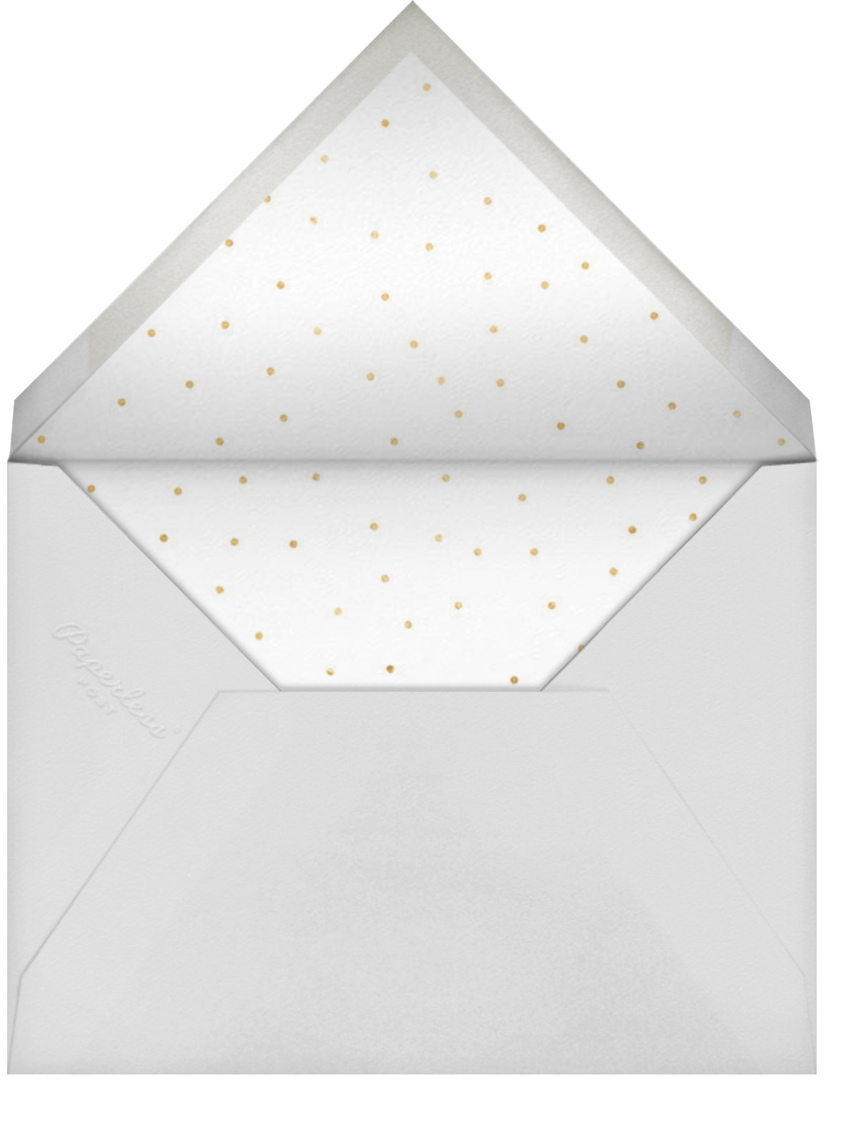 Pop of Gold - 50 - Sugar Paper - Anniversary party - envelope back