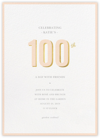 Pop of Gold - 100 - Sugar Paper - Adult Birthday Invitations