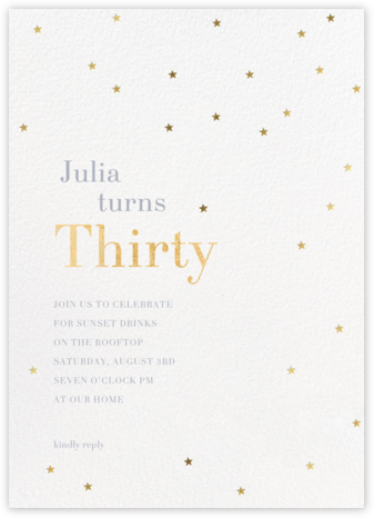 Starry-eyed - Sugar Paper - Milestone Birthday Invitations