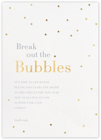 Starry-eyed - Sugar Paper - New Year's Eve Invitations