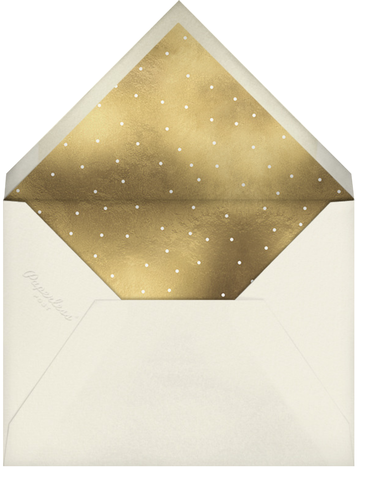 Maple Wreath - Cream - Paperless Post - Holiday cards - envelope back