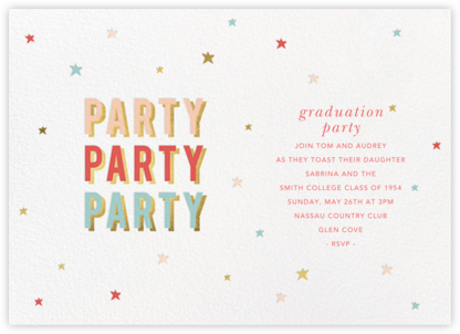 Third Party - Sugar Paper - Graduation Party Invitations