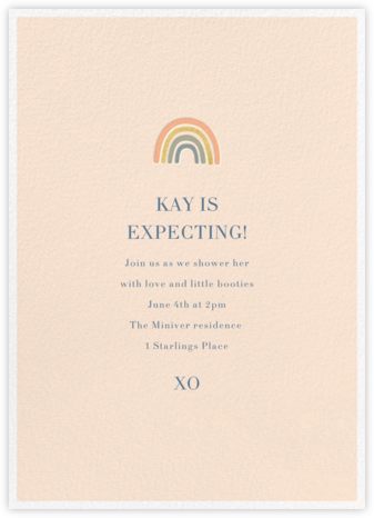 Mini Rainbow - Sugar Paper - Online Baby Shower Invitations