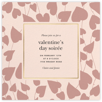 Climbing Hearts - Meringue - kate spade new york - Kate Spade invitations, save the dates, and cards