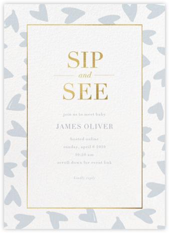 Happy Hearts - Pacific - Sugar Paper - Baby Shower Invitations