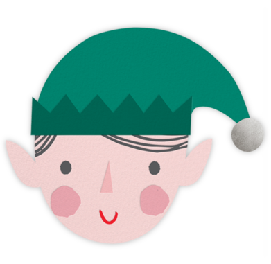 Blushing Elf - Light - Meri Meri - Holiday cards