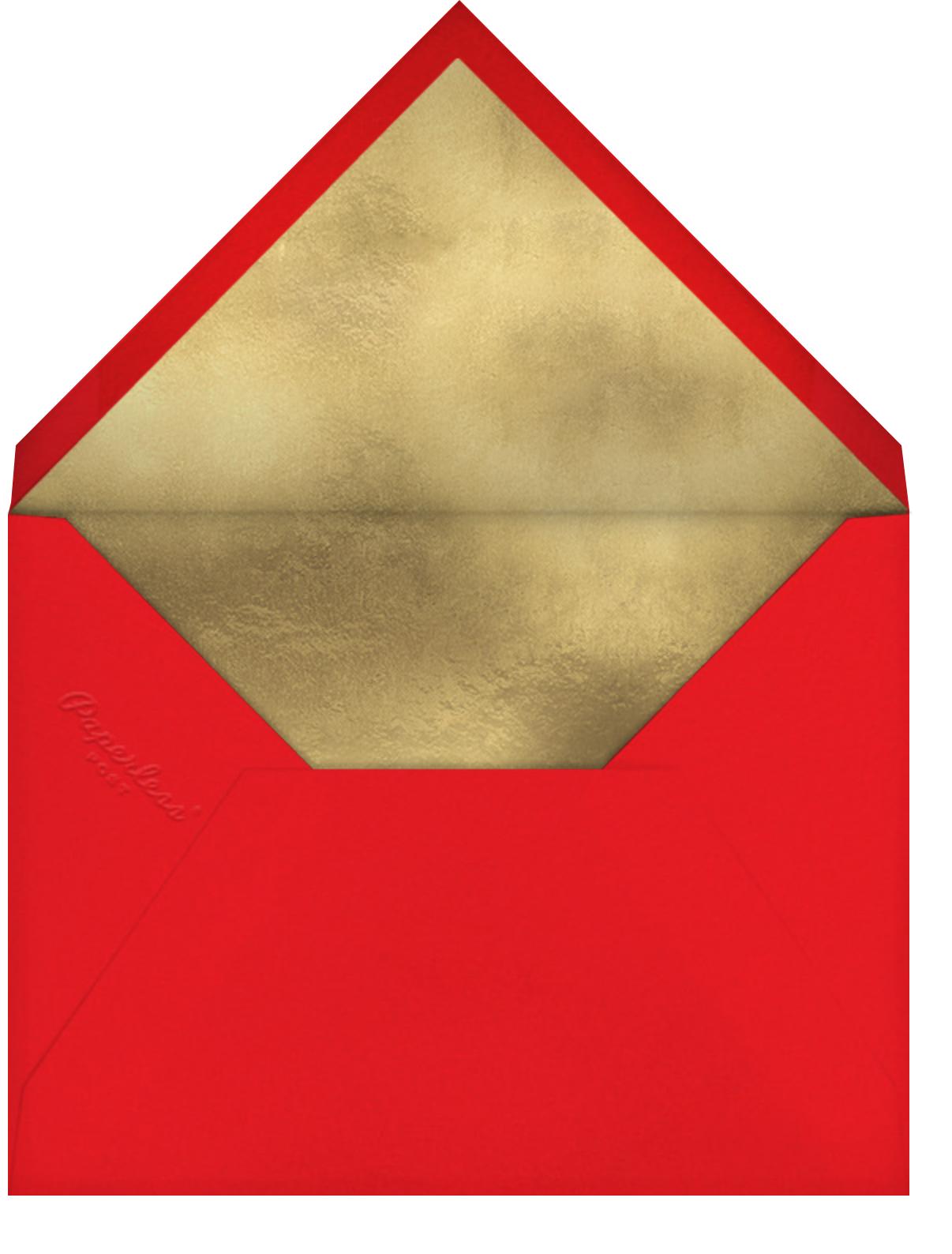 Candy Cane Delight - Meri Meri - Christmas party - envelope back