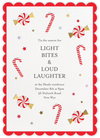 Candy Cane Delight - Meri Meri - Holiday party invitations