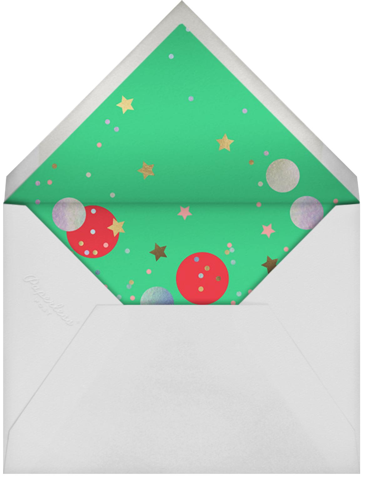 Confetti Tree - Meri Meri - Christmas - envelope back