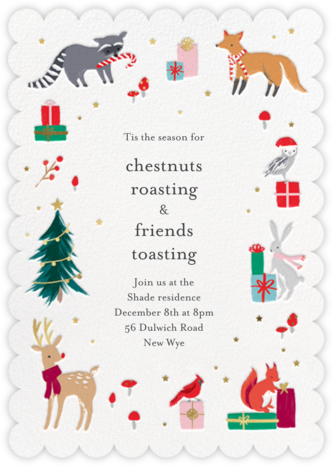 Christmas Critters - Meri Meri - Holiday party invitations