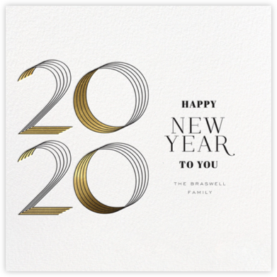 2020 Lines (Greeting) - bluepoolroad - bluepoolroad invitations and cards