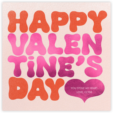 Groovy Valentine - Paperless Post - Valentine's Day Cards
