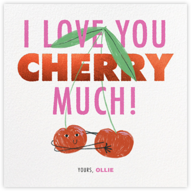 Cherry Hug - Paperless Post - Valentine's Day Cards