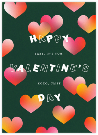 Reflective Hearts - Paperless Post - Valentine's Day Cards