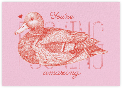 Ducking Amazing - Paperless Post - Valentine's day cards