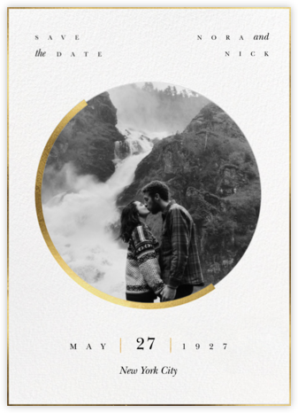 Gold Eclipse - Paperless Post - Photo save the dates