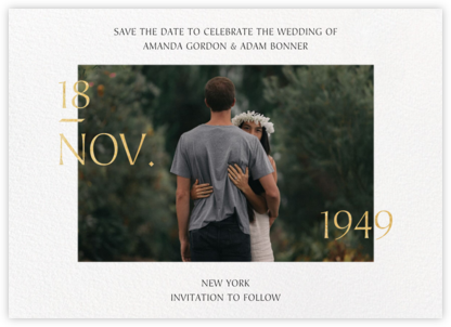 Auspicious - Paperless Post - Modern save the dates