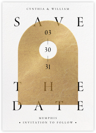 Golden Day - Paperless Post - Modern save the dates