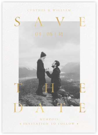 Golden Day Photo - Paperless Post - Gold and metallic save the dates