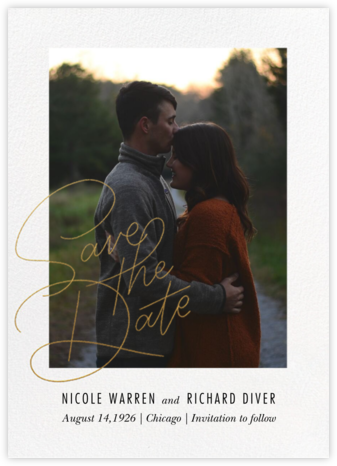 Infinite Love - Paperless Post - Gold and metallic save the dates