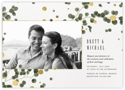 Golden Eucalyptus Photo (Invitation) - Paperless Post - Online Wedding Invitations