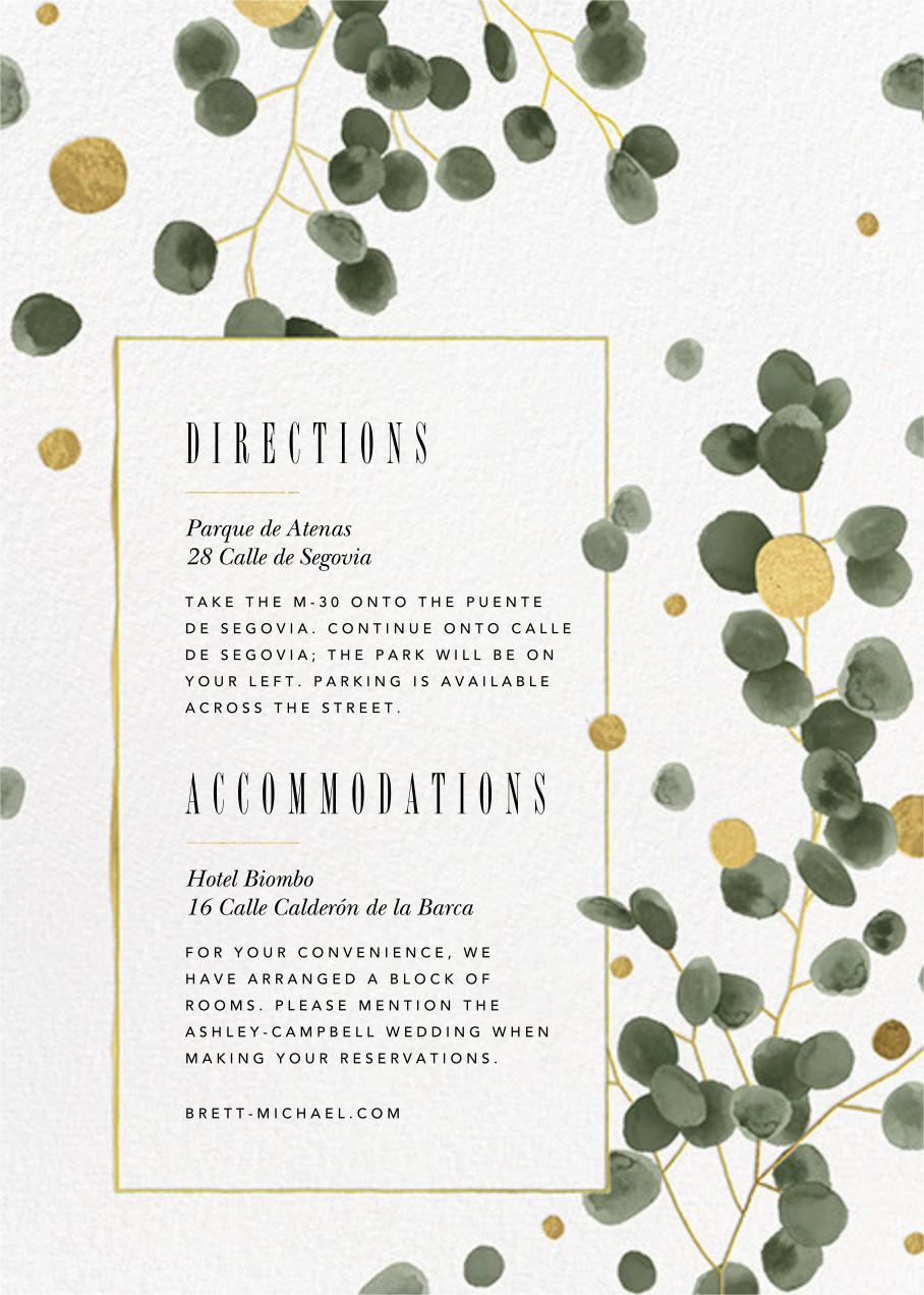 Golden Eucalyptus Photo (Invitation) - Paperless Post - All - insert front