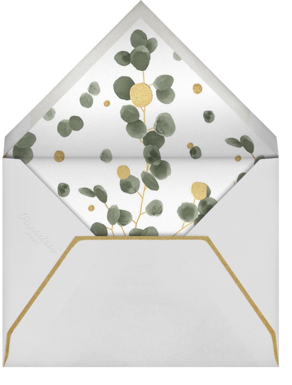 Golden Eucalyptus Photo - Paperless Post - Engagement party - envelope back