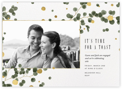 Golden Eucalyptus Photo - Paperless Post - Engagement party invitations
