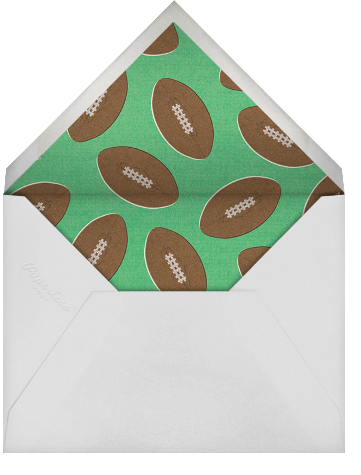Huddle - Paperless Post - Winter entertaining - envelope back
