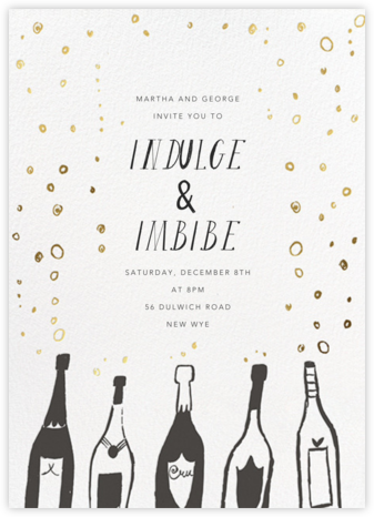 Uncorked - Mr. Boddington's Studio - Winter Party Invitations