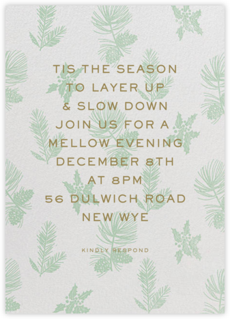Winter Wrap - Samphire - Paperless Post - Winter Party Invitations