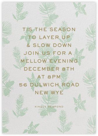 Winter Wrap - Samphire - Paperless Post - Winter entertaining invitations
