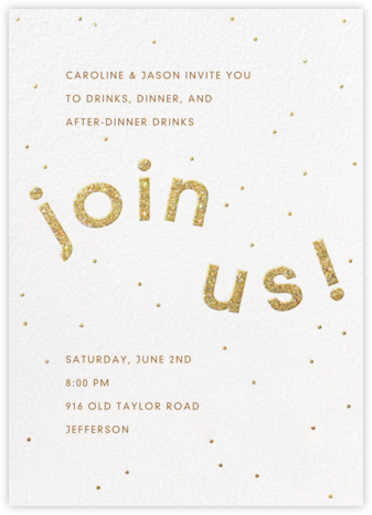 Winding Glitter - White - Paperless Post - Winter entertaining invitations