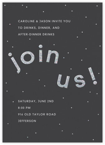 Winding Glitter - Slate - Paperless Post - Winter Party Invitations