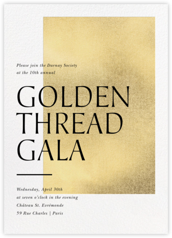 Modern Gold - Paperless Post - Winter entertaining invitations