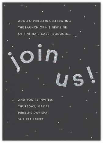 Winding Glitter - Slate - Paperless Post - Business event invitations