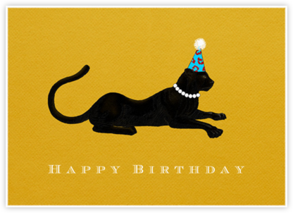 Panther Birthday - Paperless Post - Birthday Cards
