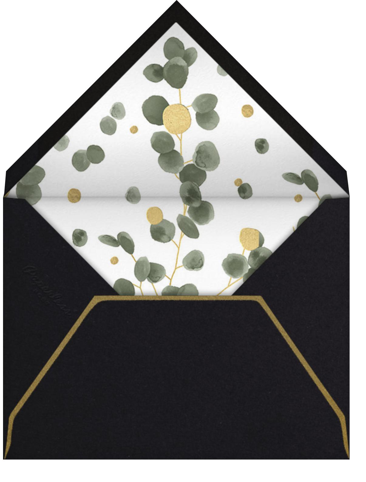 Golden Eucalyptus  - Paperless Post - General entertaining - envelope back