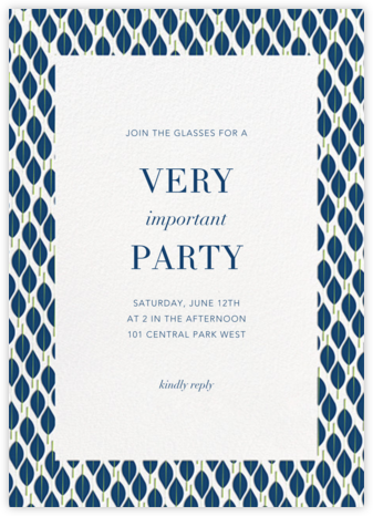 Mille Feuille - Dark Blue - Paperless Post - Business event invitations