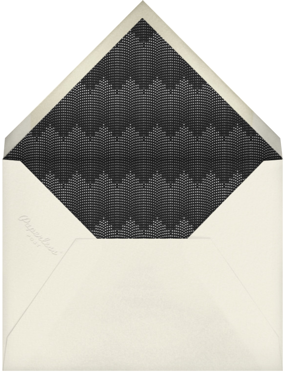 Rosina Photo - Black - Paperless Post - Ticketed events - envelope back