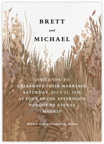 Pampas Grass (Invitation) - Paperless Post - Wedding Invitations