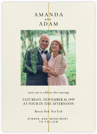 Gold Line (Invitation) - Paperless Post - Wedding invitations
