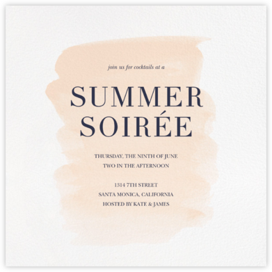 Basic Brushstroke - Bellini - Sugar Paper - Ticketed Event Invitations